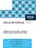 Educacion Popular