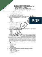 HP ADJ Exam 31.10.2012 Objective Paper