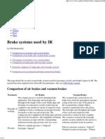 [IRFCA] Brake Systems Used by IR
