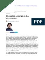 Deliciosos Enigmas de Los Diccionarios
