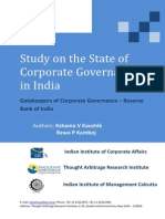 RBI and Gatekeepers of Corporate Governance