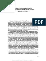 3. Platón Filósofo-educador, El Valor Alusivo de La Escritura, Patricia Bonagura