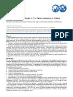 Critical Data Needs of Fracpack