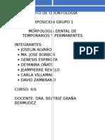 GRUPO 1 MORFOLOGIA DE LOS DIENTES TEMPORARIOS Y PERMANENTES.docx