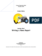 how to write a news report review