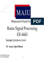 Lect 1 Introduction Radar signal processing