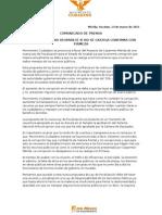 LA CORRUPCIÓN NO DESPARECE SI NO SE CASTIGA CONFIRMA CON FIRMEZA