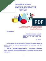Matematica Recreativa Opt.