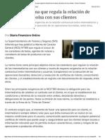 SVS Emite Norma Que Regula La Relación de Corredores de Bolsa Con Sus Clientes - Diario Financiero