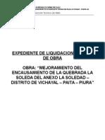 Expediente de Liquidacion Tecnica - La Soledad
