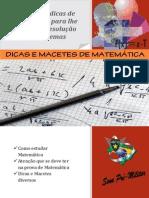 dicas e macetes de matematica curso sena