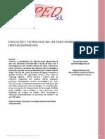 Educação e Tecnologia Na Cultura-mundo Da Hipermodernidade_x Anped