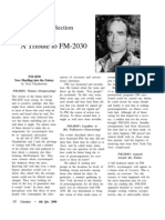 FM-2030 Tribute in Cryonics Magazine
