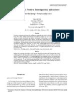 Psicología Positiva Investigación y Aplicaciones