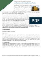 Descriere parametrii generatoare