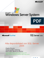 WebCast Alta Disponibilidad de SQL Server 2005