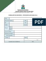 Formulário Inscrição - Portador de Diploma