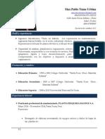 Curriculum Vitae - Ingeniero