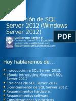 Instalacion de SQL Server 2012