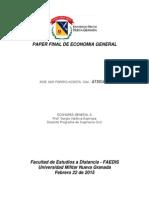 Paper Final Economía Ing. Civil UMNG