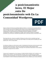 <h1>Wordpress posicionamiento en buscadores, El Mejor Complemento De posicionamiento web En La Comunidad Wordpress</h1>
