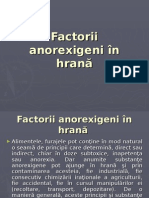 Factorii Anorexigeni in Hrana