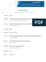 Programa Workshop ANP Eventos de Falha 2015