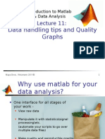 Introduction to Matlab Lecture Advanced Data Analysis Jan2012