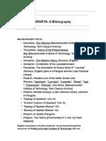 Sparta Bibliography