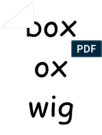 Unit 16 'w' and 'x' Words