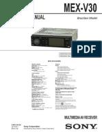 Service Manual DVD Sony MEX-V30