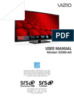 Vizio E320i-A0 User Manual
