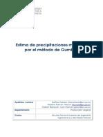 Estima de Precipitaciones Máximas Método de Gumbell