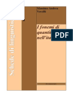 Schede di linguistica; fonemi di quantità fissa nell'italiano
