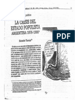 Horacio Tarcus- La Crisis Del Estado Populista