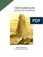 Book 2 the Mystery Religion of Babylon
