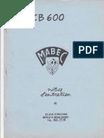 Mabec CB600 Notice