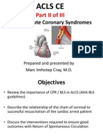 ACLS CE -Part II of III -BLS-CPR-ACLS in Acute Coronary Syndrome w Arrest