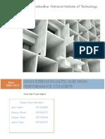 High Strength Concrete (M70)