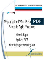 Pm Bok to Agile Mapping