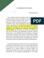 La situaci+¦n de las artes Francisco Jarauta DEFINITVO