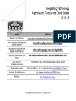 pd agenda and resource sheet
