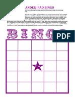 artifact c - ipad bingo