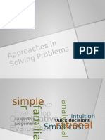 Approaches in Solving Problems