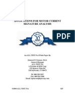 Applications for Motor Current Signature Analysis[1]
