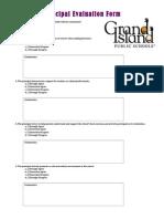 artifact f - principal evaluation