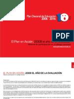 EL PLAN en ACCIÓN 2008 EL AÑO de LA EVALUACIÓN Manual de Participación en El Diálogo Nacional