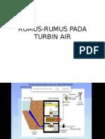 Rumus-rumus Pada Turbin Air