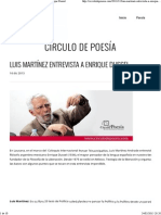 Círculo de Poesía _ Luis Martínez Entrevista a Enrique Dussel