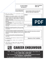 DU Test Series IV Chemistry